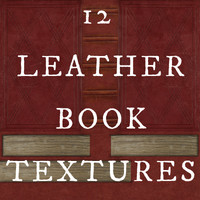 12 Leather Book Base Textures