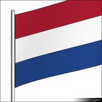 Flag-Netherlands-Pole-00310se