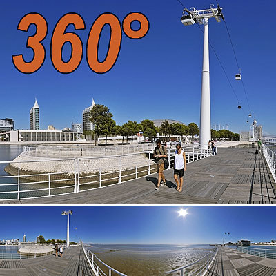 waterfront Lisbon - 360° panorama