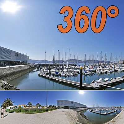 Marina in Belem - 360° panorama