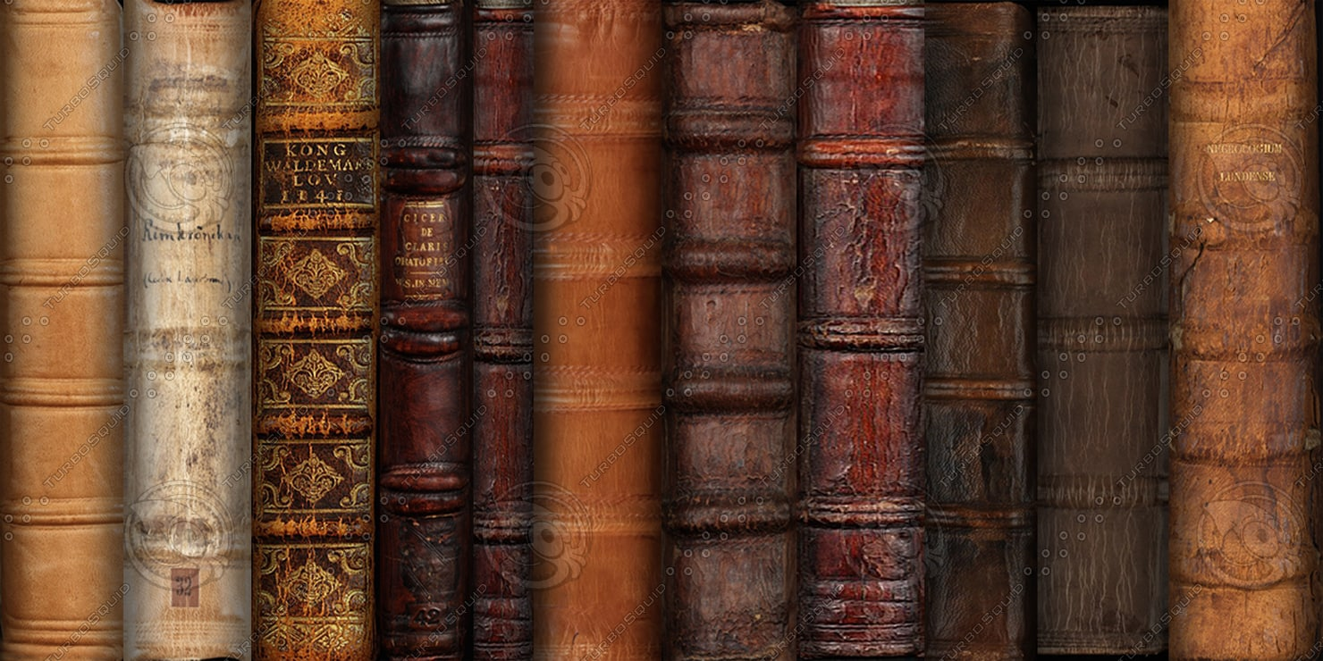 Book Cover Texture Ds Max : Texture other book spines leather