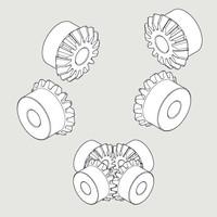 Bevel gears 16T