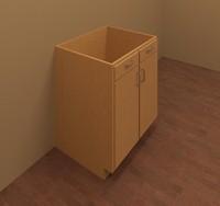 Base Cabinet-Double Door & 2 Drawer