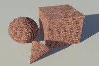 Brick - red mental ray PROCEDURAL material - mr shader