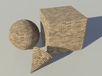 Brick - Tan 2 mental ray PROCEDURAL material - mr shader