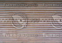 Shop front shutter.