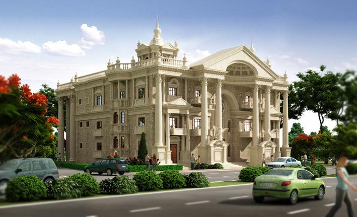 Building other classic villa architecture for Classic villa exterior design