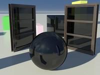Glass Tinted See-Thru Dark 1_01 - Mental Ray material