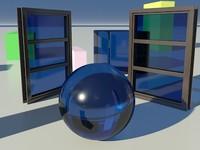 Glass Tinted See-Thru Medium Blue 1_01- Mental Ray material