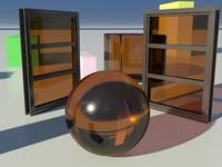 Glass Tinted See-Thru Orange 2_01 - Mental Ray material