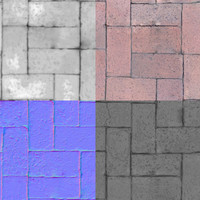 High rez Brick texture with normal map