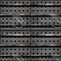 Gothic metallic cover : holes and bars