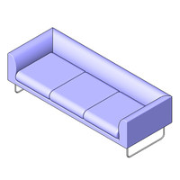 Lowboy Sofa - Three Seater Sofa