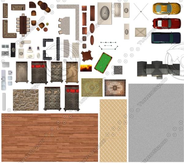 Residential Floor Plan Full Kitpsd