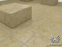 Tile_4_Beige_Mat - Marble Tile Material - 3ds Max 2010 Mental Ray