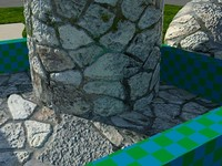 WET_Stone_AR1 - High quality wet stone material - Mental Ray shader.