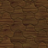 Old Wood Clover Pattern