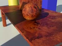 Wood Burloak Matte 1_01 - 3ds max2010 Mental Ray Material