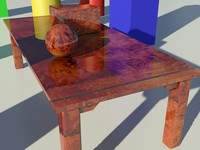 Wood Burloak Glossy 1_01 - 3ds max2010 Mental Ray Material