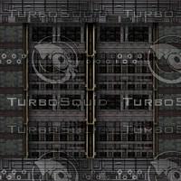 Gothic tech hallway : cargo bay