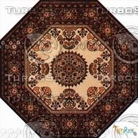 Octagonal carpet 086