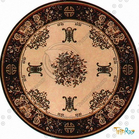 Texture Other Carpet Round Rug