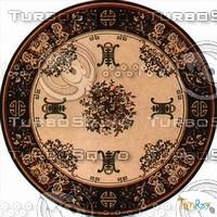 Round carpet 093
