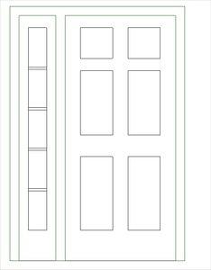 Single-Raised Panel with 1 Sidelight-S.rfa