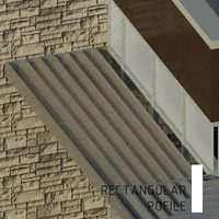 Sunshade Louver-Rectangular Blade