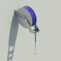 Hose Reel-Wall Mounted-Modeled