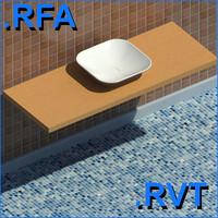 3d revit plumbing fixtures sink model