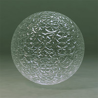 Maya Material Glass Textured 3