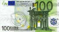 100 one hundred euro banknote high resolution texture