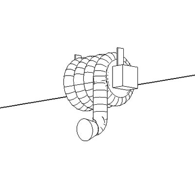 Vehicle Exhaust Ceilingl Mounted Model