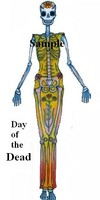 Day of the Dead female cutout