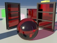 Glass Tinted See-Thru Red 1_01- Mental Ray material