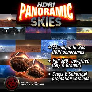 HDRI Panoramic Skies Collection