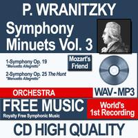P. WRANITZKY - Symphony Minuets Vol. 3