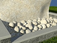 Rock_ChalkTan_1 - PROCEDURAL rock or stone material - 3ds max2010 Mental Ray shader