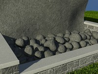 Rock_GreyDark_1 - PROCEDURAL rock or stone material - 3ds max2010 Mental Ray shader