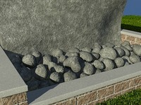 Rock_GreyVari_1 - PROCEDURAL rock or stone material - 3ds max2010 Mental Ray shader