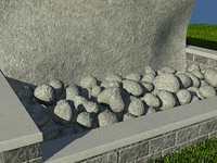 Rock_Grey_1 - PROCEDURAL rock or stone material - 3ds max2010 Mental Ray shader