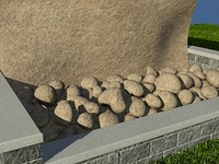 Rock_TanDark_1 - PROCEDURAL rock or stone material - 3ds max2010 Mental Ray shader