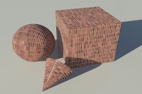 Brick - Soldier red mental ray PROCEDURAL material - mr shader