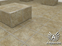 Tile_3_Beige - Marble Tile Material - 3ds Max 2010 Mental Ray