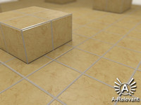 Tile_5_Beige_Mat - Marble Tile Material - 3ds Max 2010 Mental Ray