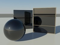 Glass tinted - Non See-Thru mental ray material - mr shader