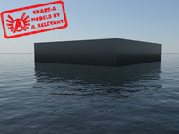 Water_Non-transparent_3 - Water Material - Procedural - 3ds max 2010 Mental Ray shader