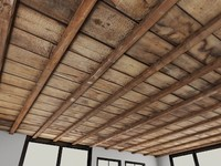 Wood_Ceiling_1 - Old Wooden Ceiling - 3DS MAX 2010 - Mental Ray Material