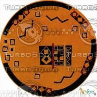Round carpet 091